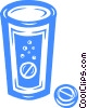 Vector Clipart image  of an alka-seltzer pills