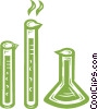 beakers Vector Clipart illustration