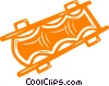 Vector Clip Art image  of a stretcher