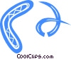 boomerang Vector Clipart illustration