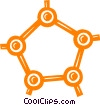 Vector Clip Art graphic  of a molecules