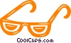 Vector Clip Art graphic  of a eyeglasses