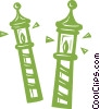 canal poles Vector Clipart illustration
