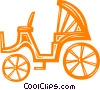 Vector Clip Art image  of a carriage
