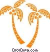 palm trees Vector Clipart graphic