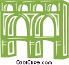Vector Clip Art graphic  of an aqueducts