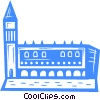 Vector Clip Art image  of a Italian building