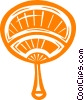 Vector Clip Art image  of a hand fan