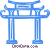 temple Vector Clipart picture