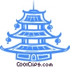 Vector Clipart graphic  of a temple