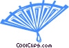 Vector Clip Art graphic  of a hand fan
