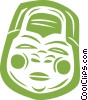 Vector Clipart image  of a Japanese mask