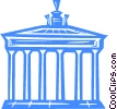 Brandenburg gate Vector Clipart illustration