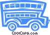 Vector Clipart image  of a Double decker bus