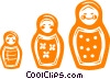 Russian toys Vector Clipart picture