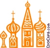 Vector Clipart image  of a Russian buildings