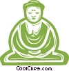 Vector Clip Art graphic  of a Buddha