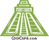 Vector Clipart image  of a pyramid