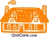 Vector Clipart illustration  of a house