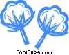 Vector Clip Art image  of a cotton
