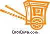 Horse drawn carriage Vector Clip Art image