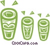 Vector Clip Art image  of a Bongo drums