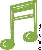 Vector Clip Art picture  of a Musical note