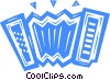 Vector Clip Art picture  of an Accordion