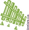 Vector Clip Art graphic  of a Pan flute