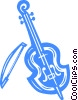 Vector Clip Art picture  of a Fiddle
