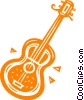 Vector Clipart graphic  of an Acoustic Guitar