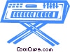 Vector Clip Art picture  of a Synthesizer