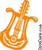 Vector Clip Art graphic  of a stringed instrument
