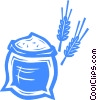 Wheat and flower Vector Clipart picture