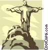 Vector Clip Art picture  of a Brazil monument
