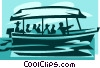 sight seeing boat Vector Clip Art graphic