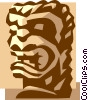 Vector Clip Art image  of a tribal statue