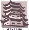 Vector Clipart picture  of an Asian buildings