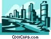 ocean front hotels Vector Clipart graphic