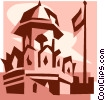 Vector Clipart illustration  of a Red Fort