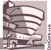 Vector Clip Art image  of a Guggenheim Museum New York