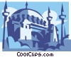Vector Clipart illustration  of a Blue Mosque