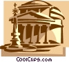 pantheon, Rome Italy Vector Clipart graphic