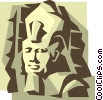 Vector Clip Art graphic  of a King Tut