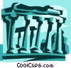 Vector Clip Art graphic  of an Acropolis in Greece