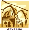 Vector Clip Art picture  of a Gold Dome