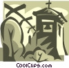 bell tower Vector Clipart illustration