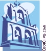 Vector Clipart image  of a bell tower