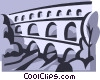 Vector Clip Art graphic  of a bridge
