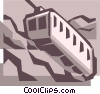 Vector Clip Art graphic  of a tram/trolley